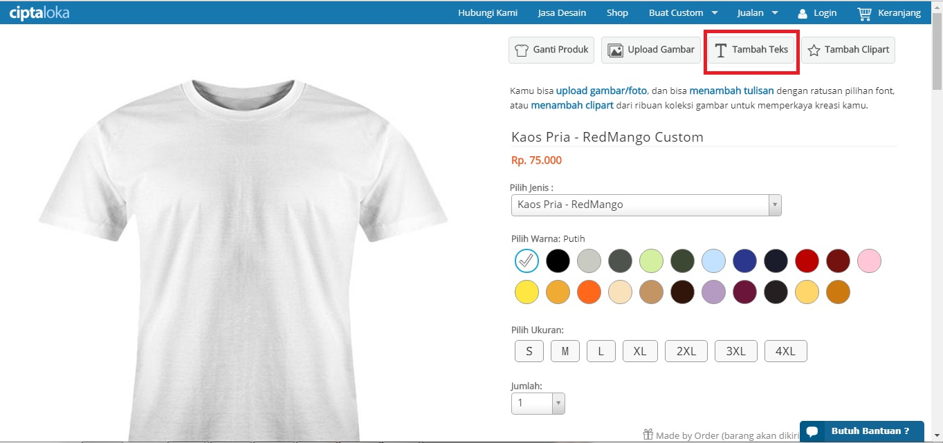 Hanya 10 Menit! Beginilah Cara Membuat Desain Kaos Tulisan di Ciptaloka.com