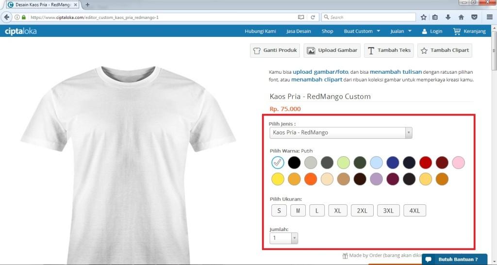 9 Langkah Mudah dalam Membuat Desain Kaos Online Sendiri di Ciptaloka.com