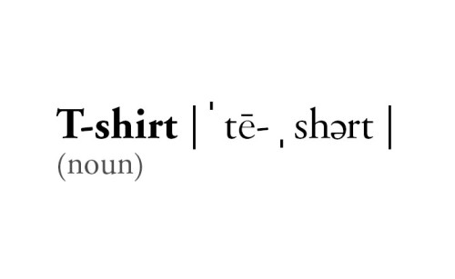 "By 1920, the word ""T-shirt"" became an official American-English word in the Merriam-Webster Dictionary via Shoplet.com"